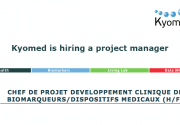 Kyomed is hiring a project manager